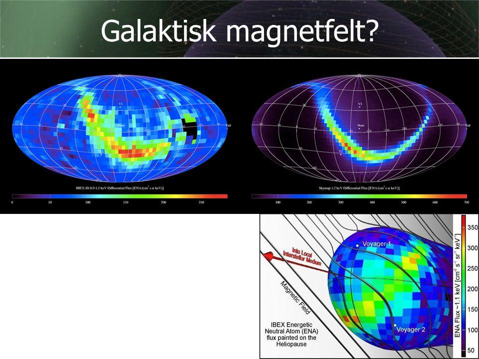 Galaktisk magnetfelt Januar 2010: En modell av et magnetfelt utenfor solsystemet får brikkene til å falle på plass [Heerikhuisen et.al.]